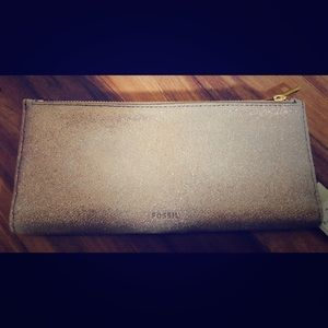 Fossil Shelby Clutch Wallet in Champagne